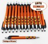 Spot Pen-Silver Accents, Orange Body & Spotted Grip-Blanks-50pkg