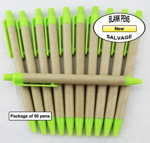 Salvage Pen -Cardboard Body with Green Accents-Blanks- 50pkg