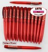 Cyclone Pen -Red Body and Silver Accent- Blanks - 50pkg