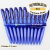 Cyclone Pen, Blue Body, Silver Accents, 12 pkg -Custom Image