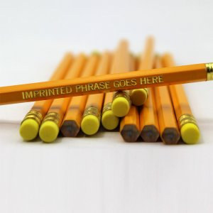 ezpencils - Personalized Yellow Hex Pencils - 144 Pencils