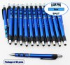 Spot Pen-Silver Accents, Blue Body & Spotted Grip-Blanks-50pkg