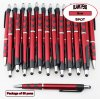 Spot Pen-Silver Accents, Red Body & Spotted Grip-Blanks-50pkg