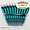 Spot Pen, Silver/Black Accents, Teal Body, 12 pkg-Custom Image