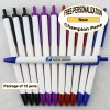 Champion Pen, White Body, Assorted Accents 12 pkg - Custom Image