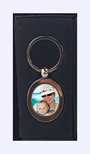 Picture Personalized Stylish Oval Shaped Keyring