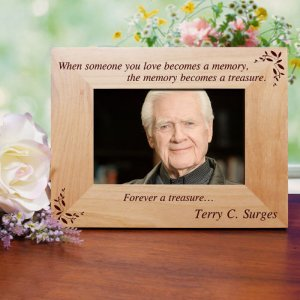 Memory Becomes A Treasure Memorial Wood Picture Frame