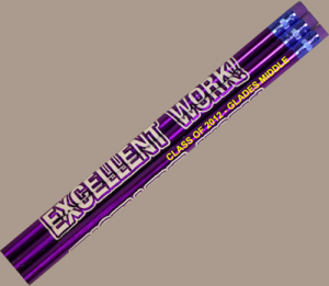 12 Excellent Work Personalized Motivational Pencil