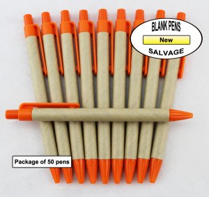 Salvage Pen -Cardboard Body with Yellow Accents-Blanks- 50pkg