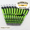 Spot Pen, Silver/Black Accents, Green Body, 12 pkg-Custom Image