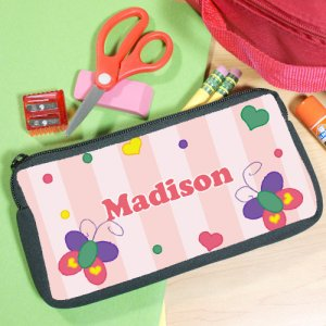 Beautiful Butterfly Personalized Pencil Case