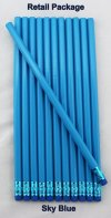 ezpencils - 12 pkg. Blank Hexagon Pencils - Sky Blue