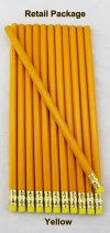 ezpencils - 12 pkg. Blank Hexagon Pencils - Yellow