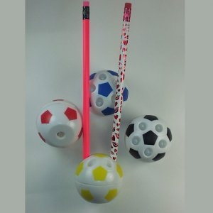 Soccer Ball Pencil Holder & Sharpener