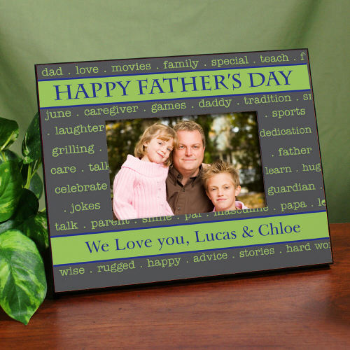 Personalized Happy Father's Day Printed Frame - Click Image to Close