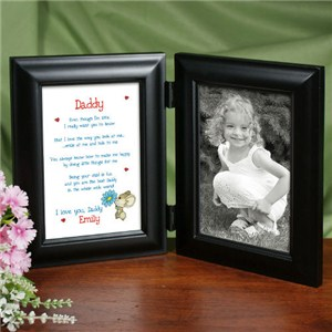 I Love You Daddy Black Bi Fold Personalize Picture Frame 914696